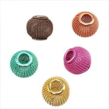20x 151107 New Wholesale Multicolour Mesh Charms Beads Fit Bracelets