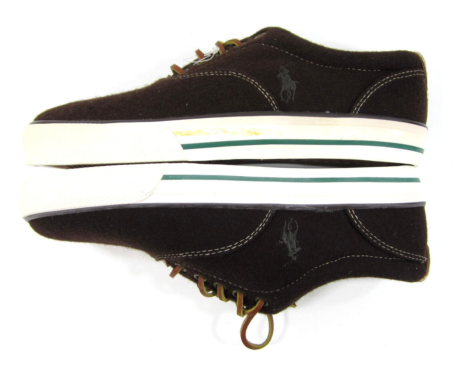 polo ralph lauren scarpe vaughn atletico taglia flanella brown scarpe taglia atletico 8 fb95d3