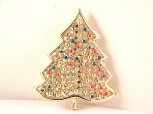 Christmas-Tree-Pin-Covered-with-Balls-Item-1858-Figural-Brooch