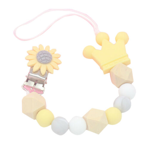 Dummy Clips Baby Teeth Chain Holder Kit Pacifier Teething Silicone Beads Strap