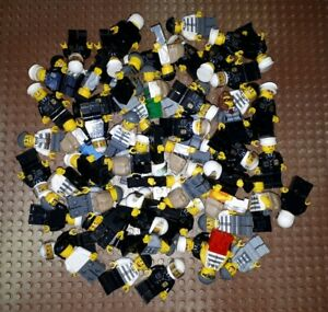 10-LEGO-POLICE-personnages-brigands-voleurs-Officier-de-Police-City-minifig-policiers
