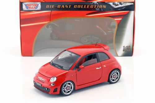 Fiat Abarth 500 año de fabricación 2008 rojo 1:18 Motormax
