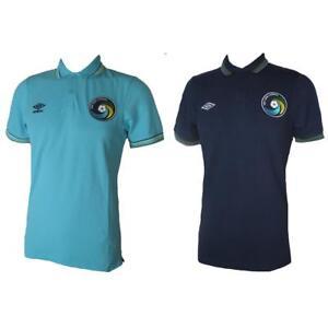 New York Cosmos Umbro Polo Chemise Light Bleu Foncé Rétro Football Jersey S-xxl-afficher Le Titre D'origine