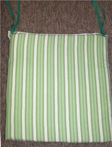 Outdoor Patio Seat Pad ~ Spicy Lime Stripe ~ 23 x 22 x 2.5 **NEW**