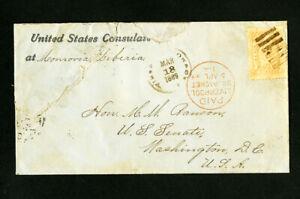 Liberia-1889-Stamped-Cover