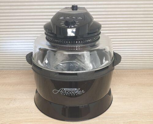 Halowave Aircooker Deluxe Umluft Halogenofen Heißluftkocher Rotisserie 12 Liter  Cqbwt