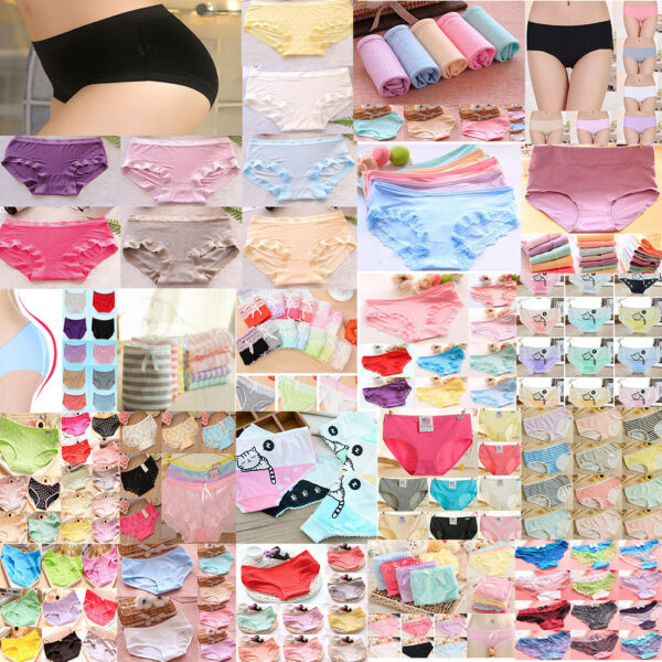 6er Damen Slips Pants Soft BAUMWOLLE UNTERWÄSCHE Panties Unterhose Großhandel XL