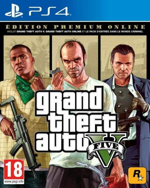 PS4 GTA V Premium Online Edition Jeux Console GTA 5 Neuf