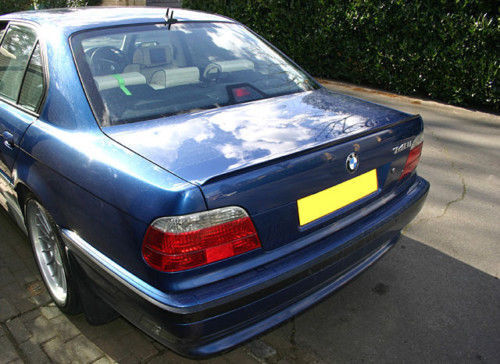 USA Free Ship 1995-2001 BMW E38 7 Series M Style Unpainted Trunk Lip Spoiler