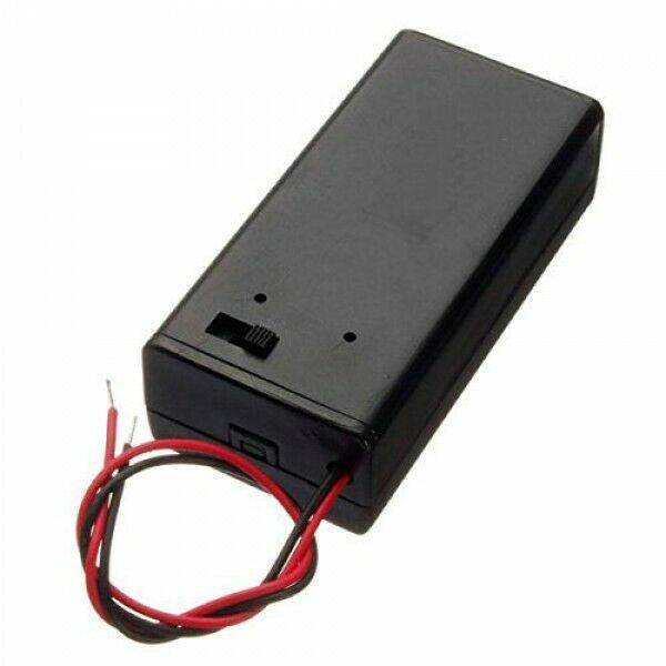 Container Power Battery 9V with Lid And Switch Pack Battery 9 Volt
