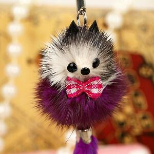 Cute Soft Fox Animal Cell Phone Car Keychain Pendant Handbag Charm Key Ring Gift