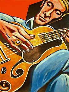 les paul print poster jazz legend and the legacy cd custom gibson archtop guitar ebay. Black Bedroom Furniture Sets. Home Design Ideas