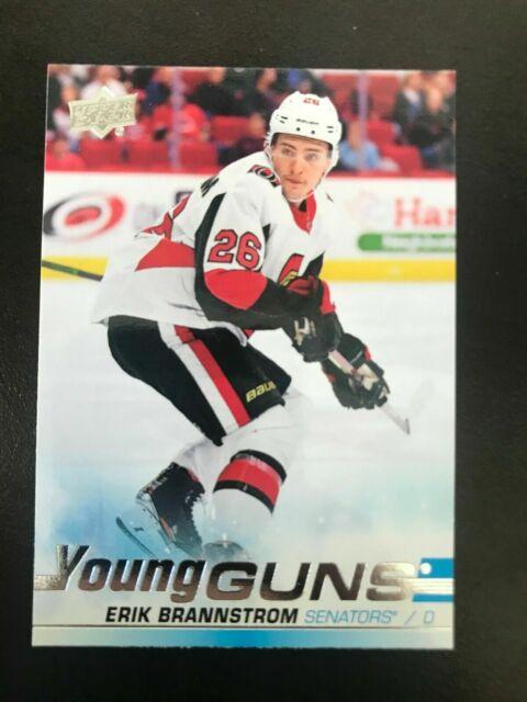 19-20 Upper Deck Series 2 Erik Brannstrom Young Guns Rookie Senators