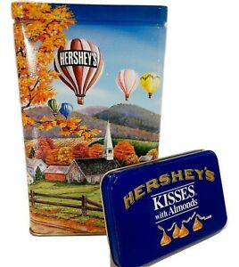1994 Hershey's Chocolate Hometown Series Canister #11 Hot Air Balloon Tin