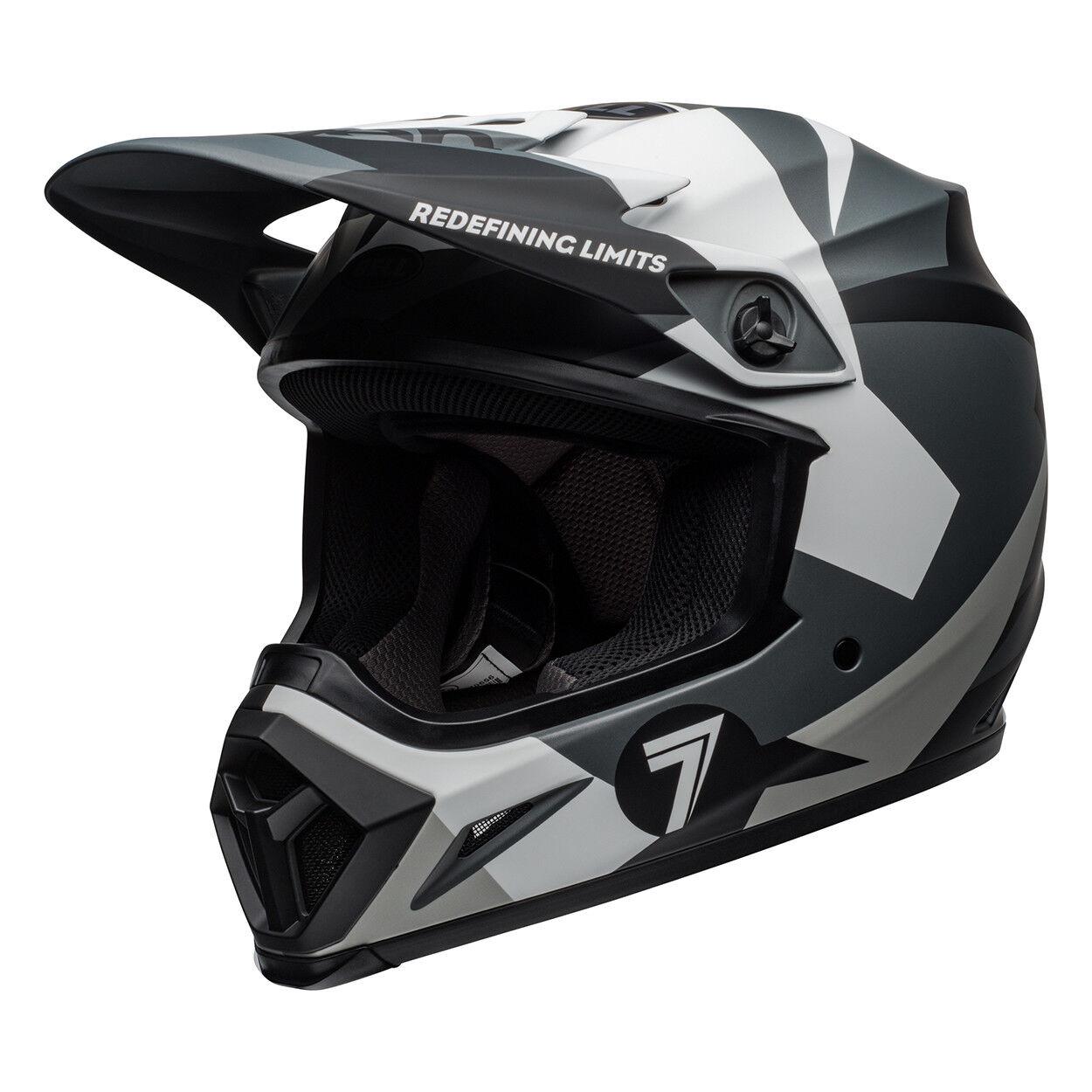 Bell Seven MX 2019 MX-9 MIPS Adult Helmet (Battleship Matte Black/Grey)