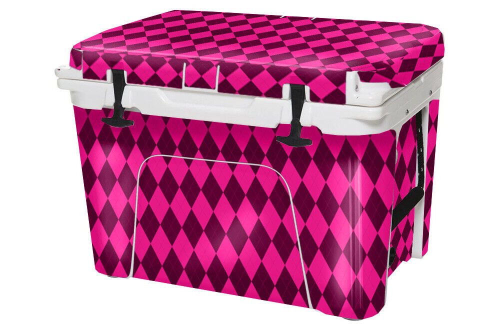 USATuff Cooler Decal Wrap fits YETI Tundra 35qt FULL Argyle Rosa