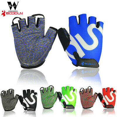 MenRoad Cycling Glove Bike Half Finger Bicycle Padded Fingerless Sport Brethable
