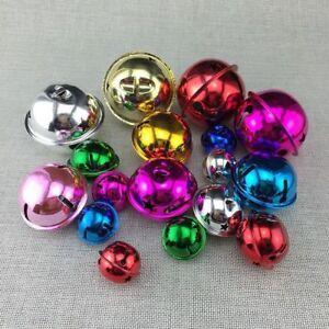 Metal School Bell Round Shape 22mm 10pc Jingle Bells Charm Pendant DIY Necklace