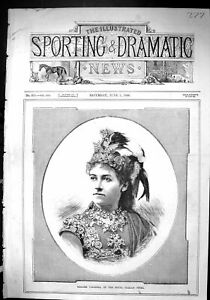 Old-Print-Sporting-Dramatic-News-1880-Madame-Valleria-Royal-Italian-Opera-19th