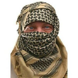 SAS-amp-SF-ARMY-DESERT-TAN-SAND-ARAB-SHEMAGH-SCARF-Hike-Camp-Survival-100-Cotton