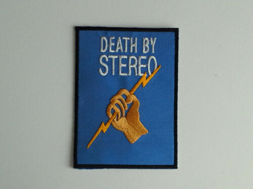 D.B.S. DEATH BY STEREO IRON ON PATCH: a PUNK ROCK HEAVY METAL MUSIC SEW ON
