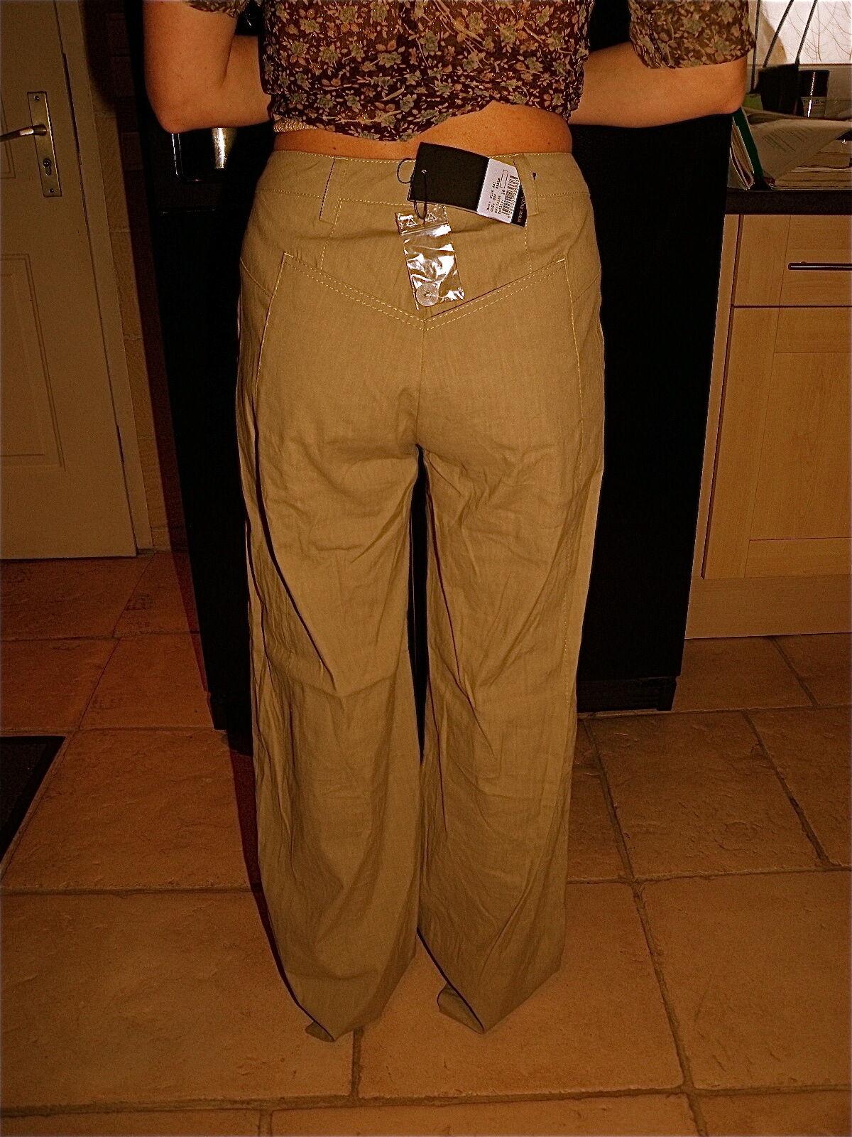 Eccezionale pantaloni grande beige MC PLANET PLANET PLANET taglia 44 NUOVO CON ETICHETTA 150417