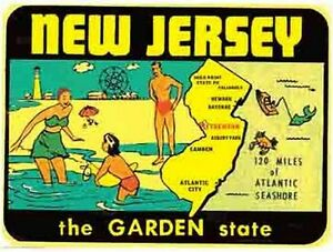New Jersey Nj Garden State 1950 39 S Vintage Looking