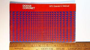 1975-DODGE-Coronet-034-Kit-034-Original-Owner-039-s-Manual-Excellent-Condition-US