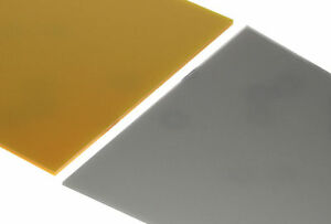 Gold-amp-Silver-Metallic-Acrylic-Perspex-Sheet-Plastic-Gloss-Metal-Colours-New