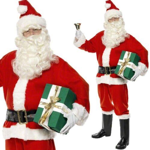 Herren 6- Teiliges Weihnachtsmann Weihnachtsmann Kostüm Kleid Outfit M - Xl