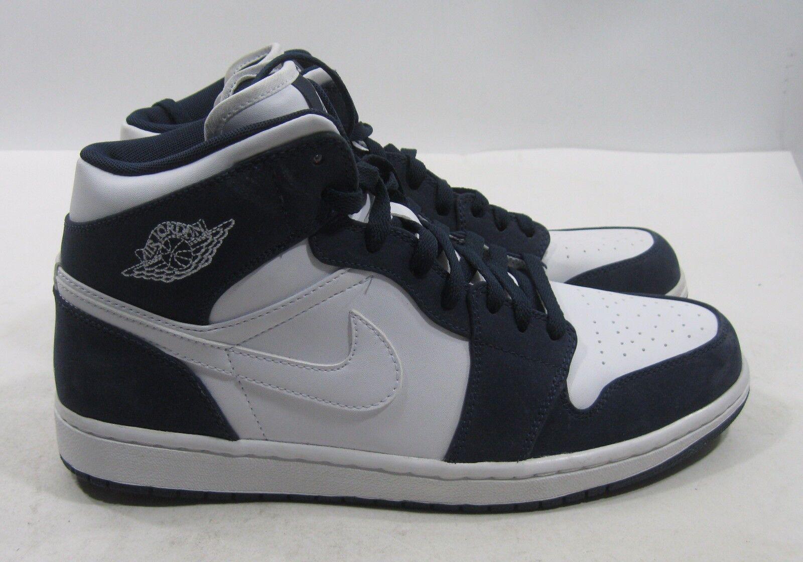 Nike Air Jordan Retro 1 hat White/White-Obsidian 364770-104 Size 11.5