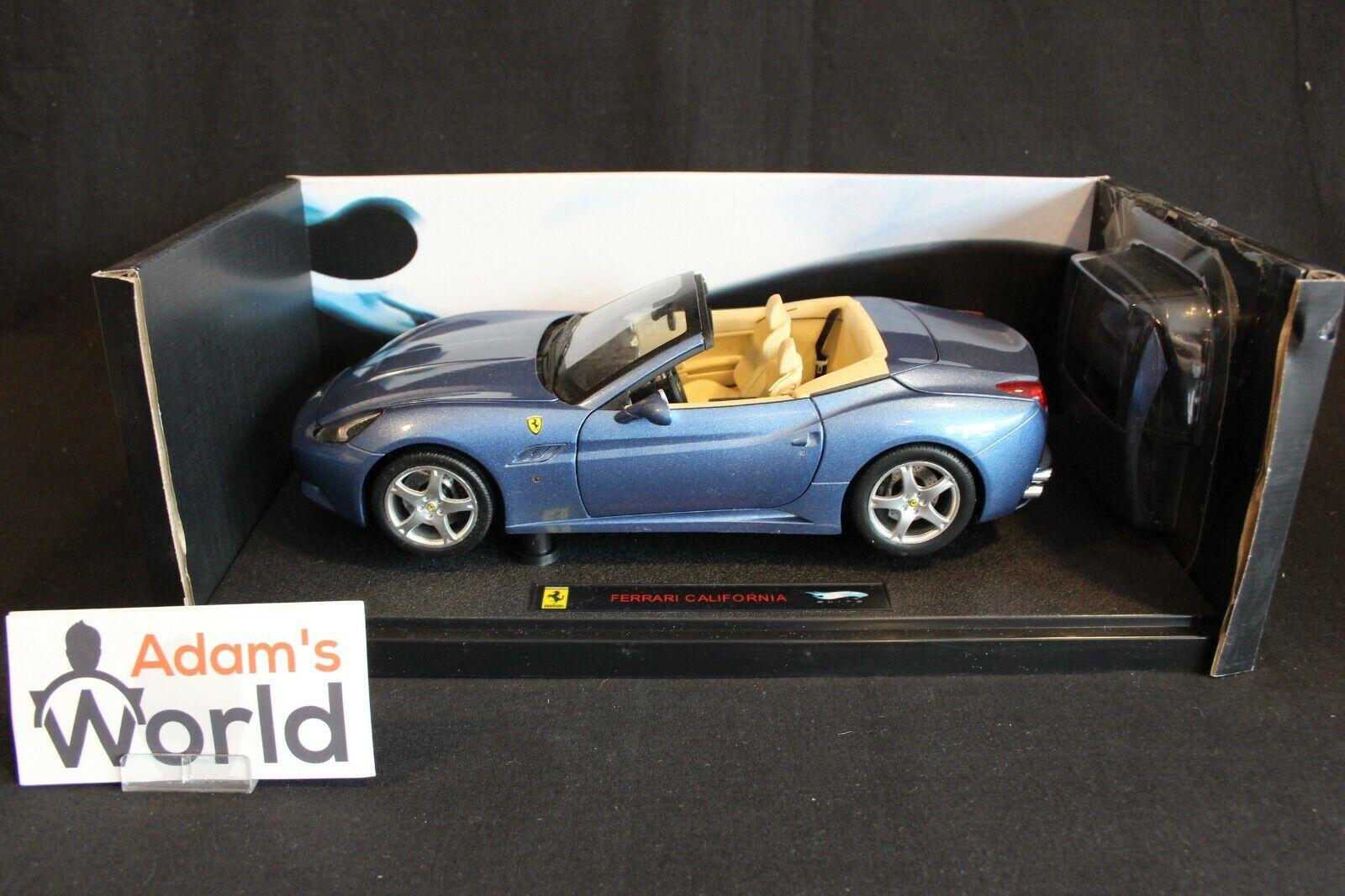 Hot Wheels Elite Ferrari California 1 18 bleu metallic (PJBB)