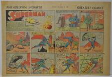 SUPERMAN SUNDAY COMIC STRIP #1 Nov 5, 1939 2/3 FULL Philadelphia Inquirer RARE