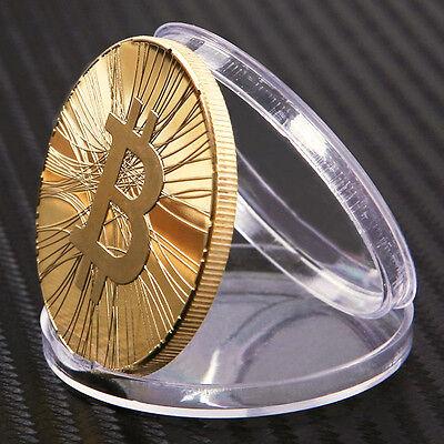Iron BTC Physical Bit Coin #127 Gold Plated Virtual Money 40mm Satoshi Nakamoto