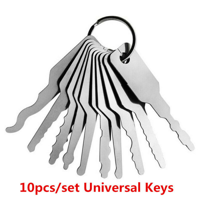 10pcs//set Universal Car Auto Lock out Emergency Kit Unlock Door Open Tool Keys