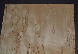 Karelian Birch Raw Wood Veneer Sheets at 11 x 45 inches 1//42nd thick      7867-5