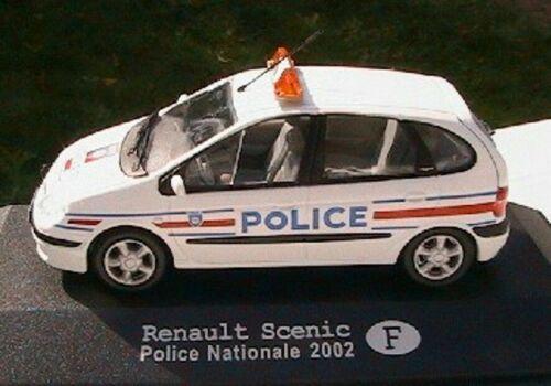 10 PEZZI MODELLINO AUTO POLIZIA COLLEZIONE RENAULT SCENIC POLICE NATIONAL 2002