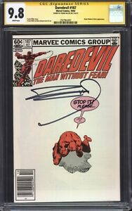 DAREDEVIL-187-1982-CGC-9-8-SS-Signed-by-Frank-Miller-Black-Widow-amp-Stick