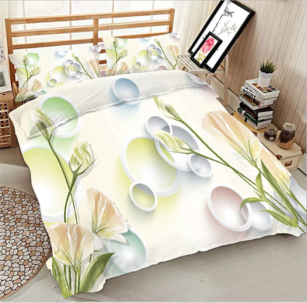 Simple Octopuzzler 3D Printing Duvet Quilt Doona Covers Pillow Case Bedding Sets
