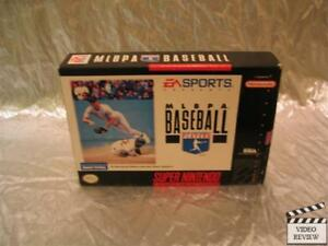 MLBPA Baseball (Super Nintendo Entertainment System, 1994) No Instructions