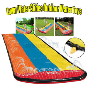 Outdoor-Inflatable-Lawn-Water-Slide-Garden-Play-Slip-Mat-Swimming-Pool-Game-Toy