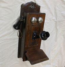 Antique Oak Wall Mount Monarch Company Telephone – original finish
