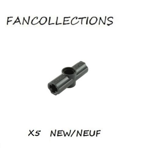 Black Technic 32034 NEUF LEGO x 5 Axle and Pin Connector Angled #2-180 °