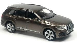 Nuevo-SUV-audi-q7-maqueta-de-coche-aprox-11-7-cm-marron-metalizado-mercancia-nueva-de-Welly