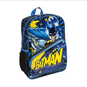 NEW BATMAN SUPER HERO CHILDREN KIDS BACKPACK BAG FOR KIDS SCHOOL TRAVEL POCKET