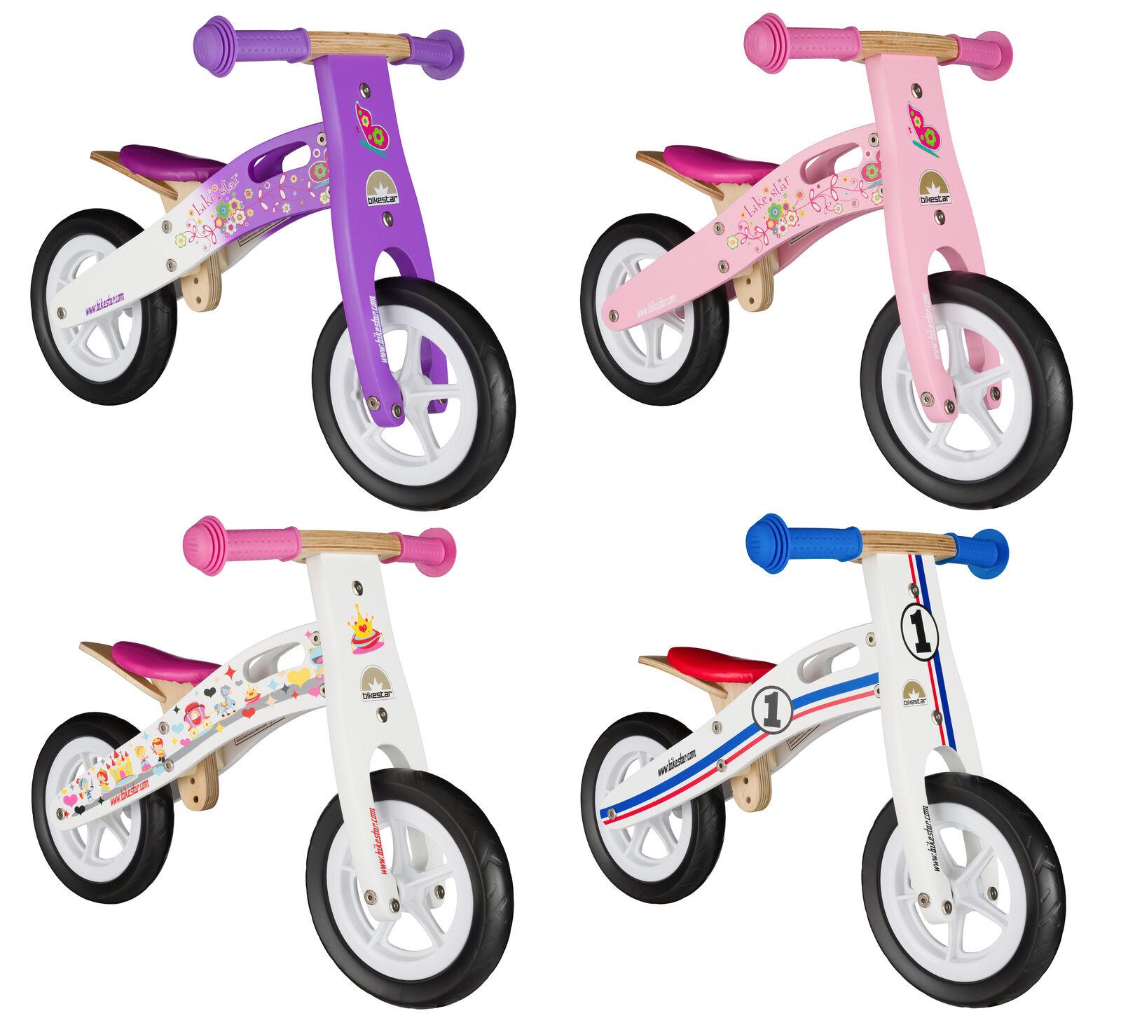 BIKESTAR Kinderlaufrad Kinder Laufrad Lauflernrad ab 2 Jahre   10 Zoll Holz