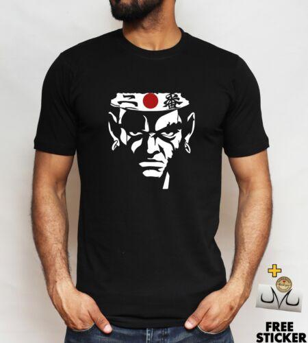 Anime Manga tee For Men Swordsman Afro Samurai t-shirt Japanese Flag Logo