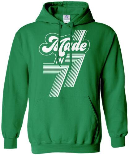 Made in 1977 Unisex Hoodie Sweatshirt 40th Birthday Party Gift 77