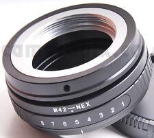 Tilt M42 Lens to Sony NEX E-mount camera camcorder body adapter converter ring