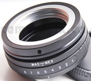 Tilt-M42-Lens-to-Sony-NEX-E-mount-camera-camcorder-body-adapter-converter-ring